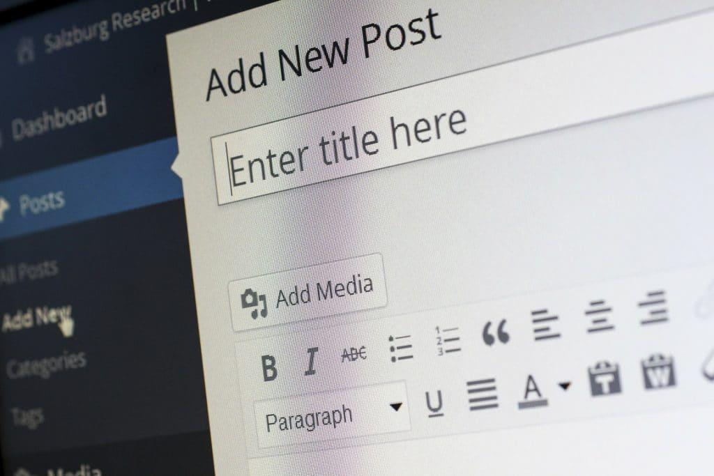 diseño web con wordpress blog