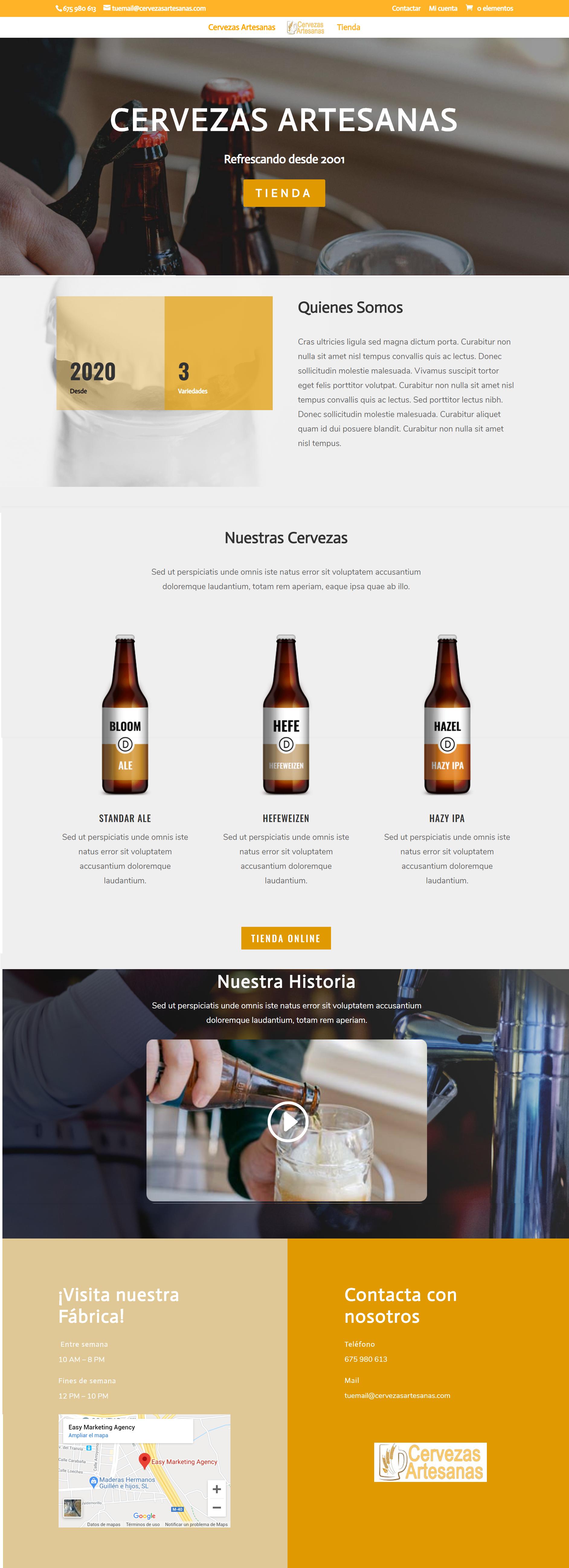 tienda de cervezas online web